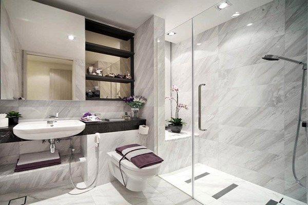 Nội thất nhà vệ sinh đẹp và đơn giản