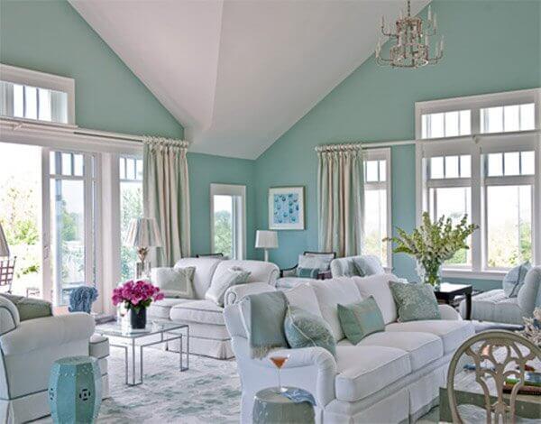 Phòng khách mùa hè cực đẹp
